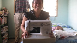 Sewing machine given to pastor's wife