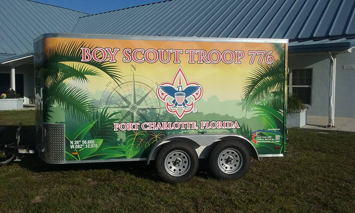 Boy Scout Trailer Wrap